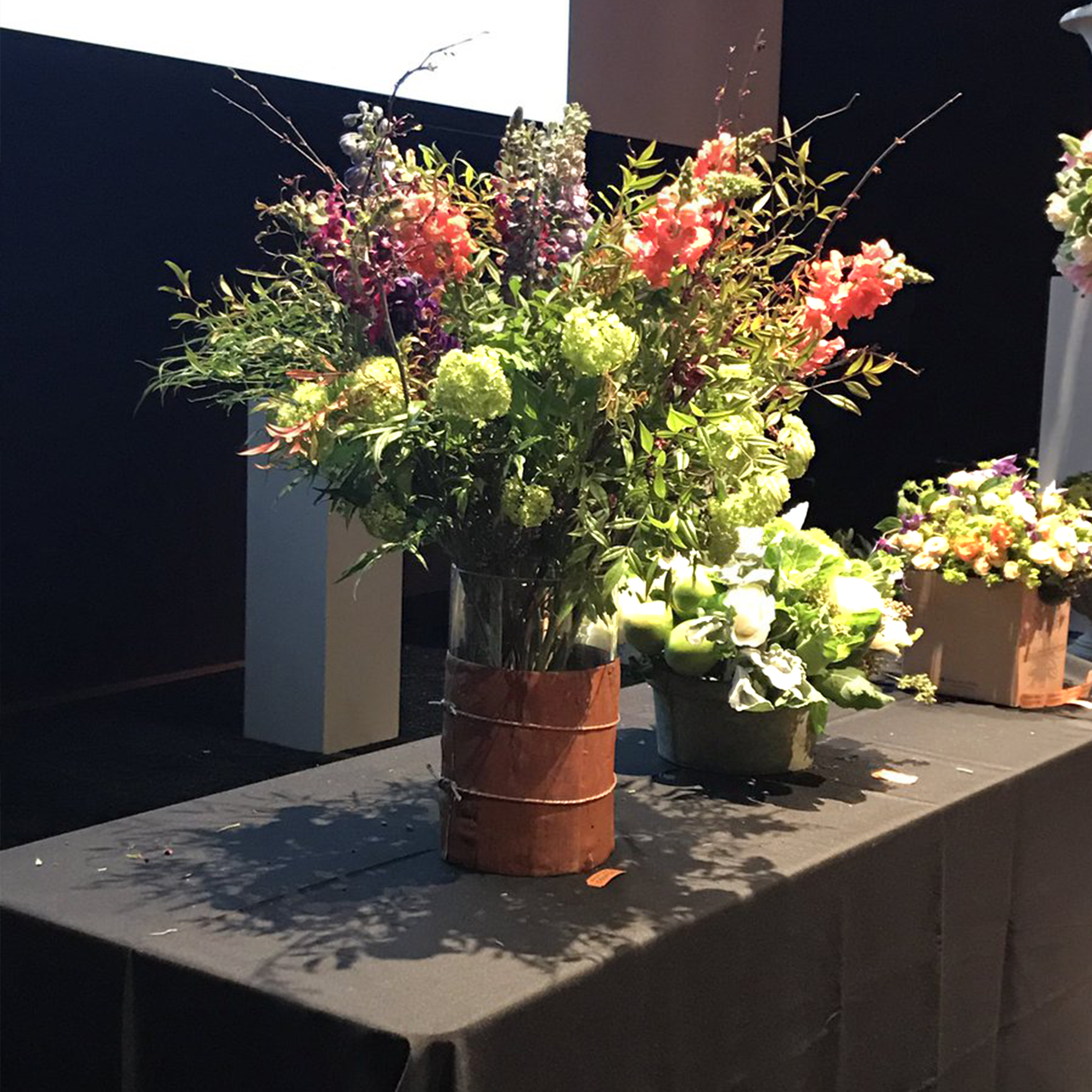 Flowers at bouquets to art